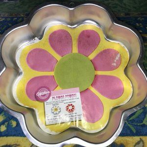 Rare Wilton Flower Power 1998 Cake Pan Tin Insert